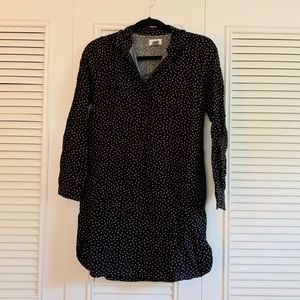 Old Navy Black and White Polka Dot Dress